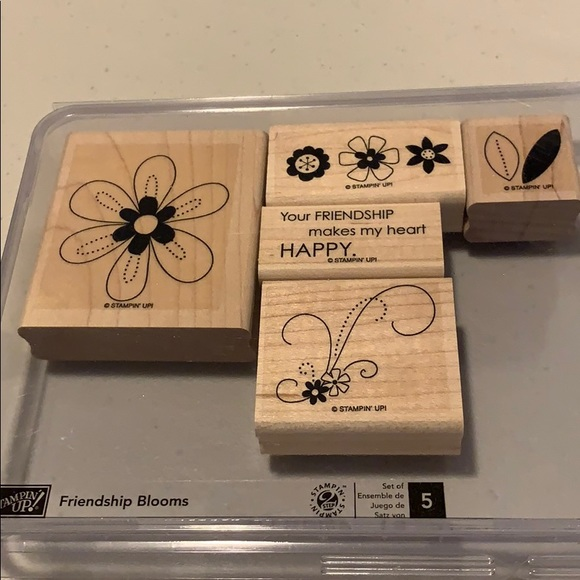 🍀3/$25 - Stampin Up! Friendship Blooms set
